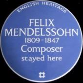 The blue plaque to Mendelssohn