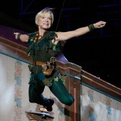 Cathy Rigby as the character Peter Pan