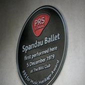 PRS for Music Plaque