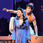 Courtney Reed (Jasmine) and Adam Jacobs (Aladdin) in Disney's 'Aladdin.'