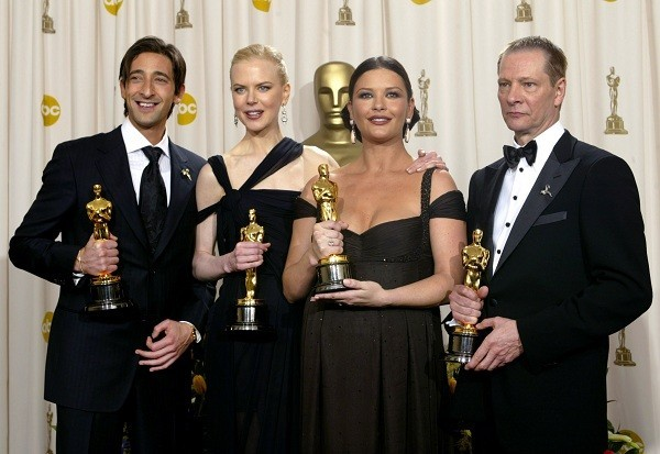 All Four Oscar Recipients for Acting Pose Together at Academy Awards.
