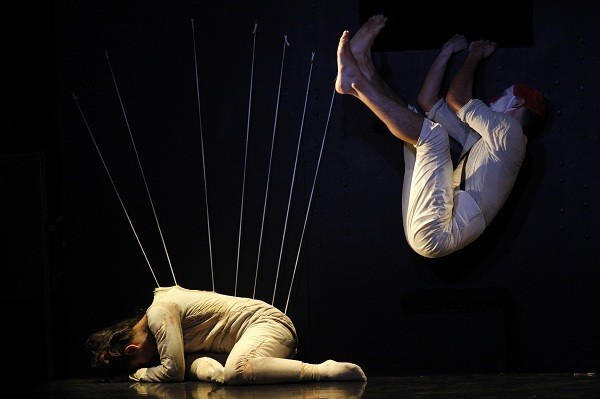 Dancers perform in 'Bombyx Mori' during the Malta Arts Festival in Floriana.