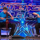 America's Got Talent indeed with brothers Emil and Dariel who play Jimi Hendrix...taught by their Russian grandfather.