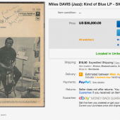 Not a Freddie Freeloader: Signed 'Kind of Blue' LP from Miles Davis Runs for $35,000 on eBay