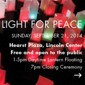 'Be A Light For Peace' comes to Lincoln Center this Sunday.