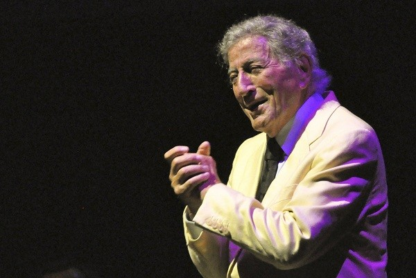 Tony Bennett performs during a concert in Rome.