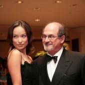 Salman Rushdie and actress Olivia Wilde