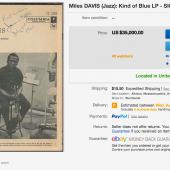 Not a Freddie Freeloader: Signed 'Kind of Blue' LP from Miles Davis Runs for $35,000 on eBay