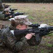 Female Marine recruits at boot camp